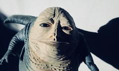 Jabba The Hutt - Star Wars 1997 Revisionist Film 5895 (Brechtbug) Tags: jabba the hutt star wars 1977 retooling figures scifi science fiction creature monster action figure toy toys spaceship 2019 kenner type threepio giant lizard thug boss gangster slug metropolis robot droid android humpty dumpty ish return jedi