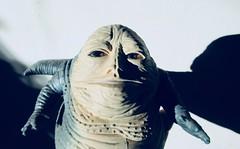 Jabba The Hutt - Star Wars 1997 Revisionist Film 5894 (Brechtbug) Tags: jabba the hutt star wars 1977 retooling figures scifi science fiction creature monster action figure toy toys spaceship 2019 kenner type threepio giant lizard thug boss gangster slug metropolis robot droid android humpty dumpty ish return jedi