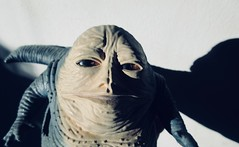 Jabba The Hutt - Star Wars 1997 Revisionist Film 5896 (Brechtbug) Tags: jabba the hutt star wars 1977 retooling figures scifi science fiction creature monster action figure toy toys spaceship 2019 kenner type threepio giant lizard thug boss gangster slug metropolis robot droid android humpty dumpty ish return jedi