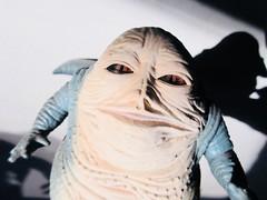 Jabba The Hutt - Star Wars 1997 Revisionist Film 5882 (Brechtbug) Tags: jabba the hutt star wars 1977 retooling figures scifi science fiction creature monster action figure toy toys spaceship 2019 kenner type threepio giant lizard thug boss gangster slug metropolis robot droid android humpty dumpty ish return jedi