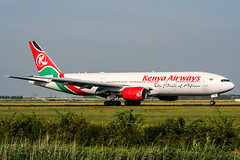 5Y-KQS (PlanePixNase) Tags: amsterdam ams eham schiphol planespotting airport aircraft kenyaairways boeing 777 777200 b772