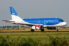 G-DBCG (PlanePixNase) Tags: amsterdam ams eham schiphol planespotting airport aircraft bmi british midland 319 a319