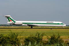 I-DANM (PlanePixNase) Tags: amsterdam ams eham schiphol planespotting airport aircraft mcdonnell douglas md82 alitalia