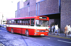Slide 144-00 (Steve Guess) Tags: guildford surrey england gb uk friary centre bus safeguard coaches leyland leopard duple dominant