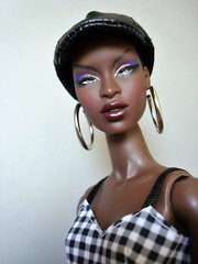 The Muse Adele (Deejay Bafaroy) Tags: fashion royalty fr integrity toys doll puppe barbie adele makeda themuse portrait porträt black schwarz white weiss cap kappe earrings ohrringe dress kleid