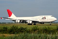 JA8074 (PlanePixNase) Tags: amsterdam ams eham schiphol planespotting airport aircraft jal boeing 747 747400 b744 japanairlines jumbo