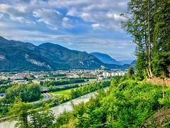 Kufstein with fortress in the river Inn valley in Tyrol, Austria (UweBKK (α 77 on )) Tags: kufstein fortress zahmer kaiser mountain river inn valley landscape landschaft scene scenic scenery tyrol tirol austria österreich europe europa iphone