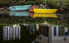 Boats on the Canal at Venice (California) (crabsandbeer (Kevin Moore)) Tags: 2018 california losangeles trip la venice venicebeach canal canals venicecanals boat reflections color water seascape dock