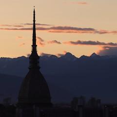 Turin sunset. (giuselogra) Tags: tramonti tramonto sunset torino turin italy italia piedmont piemonte lacittàmetropolitanaditorinovistadavoi