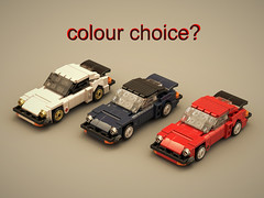 Porsche possible versions (ron_dayes) Tags: porsche lego 1980 minifigure scale minifig carrera gt 911 930