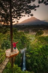 Self Portrait at Kedung Kayang Waterfall (tehhanlin) Tags: portrait sunrise indonesia landscape photography yogyakarta jogjakarta humaninterest sonysingapore tehhanlin a7r2 waterfall sony ngc kedungkayang fe1224g