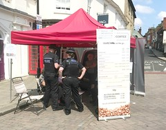 Essex Police at the coffee stall (AndrewHA's) Tags: essex saffronwalden market day police coffee