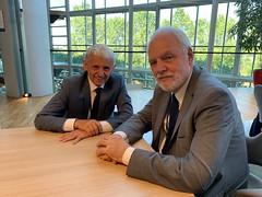 Jan Olbrycht spotkał się z Mikulasem Dzurindą, byłym premierem Słowacji, a obecnym przewodniczącym Wilfried Martens Centre for European Studies.  Parlament Europejski, Strasbourg, 16/07/2019.
