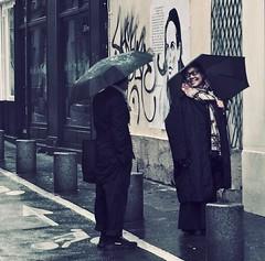 Paris by Rain (Professor Bop) Tags: olympusem1 professorbop drjazz parisfrance streetphotography streets people umbrellas buildings rivegauche sixtharrondisement may2019 structures architecture rue mosca