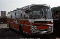 Ex- East Yorkshire 920,  BKH 920K, Lawrence Hill Depot, Bristol, April 20th 1984 (Bristol RE) Tags: 920 2105 eastyorkshire bristolomnibus leyland leopard plaxton panoramaeliteiiexpress lawrencehilldepot bristol bkh920k
