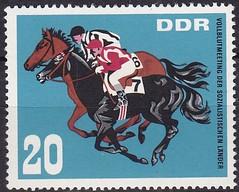 Deutsche Briefmarken (micky the pixel) Tags: briefmarke stamp ephemera deutschland deutschepost ddr pferd horse sport galopprennen horseracing