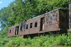 Cooperstown Junction Revisit 2 (rchrdcnnnghm) Tags: abandoned railroad train delawareandhudsonrailroad cooperstownjunctionny rustyandcrusty baggagecar mailcar