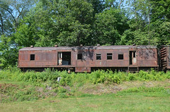 Cooperstown Junction Revisit 3 (rchrdcnnnghm) Tags: abandoned railroad train delawareandhudsonrailroad cooperstownjunctionny rustyandcrusty baggagecar mailcar