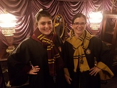 At Madam Malkins (Mrs. Trusty) Tags: harrypotter gryffindor hufflepuff universalstudiosorlando diagonalley robes