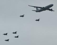 "F-UJCG, Airbus A330-243MRTT ""Phoenix"", c/n 1735, code 041, two Dassault Mirage 2000s, four Dassault Rafales, all Armée de l'Air (French Airforce), Paris-La Défense, 2019-07-14. (alaindurandpatrick) Tags: airbus airbusa330 airbusa330200mrtt fujcg cn1735 code041 mrtt multiroletransporttankeraircrafts militaryaircrafts arméedelair frenchairforce airforces flypasts airparades combataircrafts dassault mirage2000 rafale dassaultrafale dassaultmirage2000 parisladéfense ladéfense bastilleday"