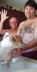 July 15, 2019 (5) (gaymay) Tags: california desert gay love palmsprings riversidecounty coachellavalley sonorandesert bath dogbath dog