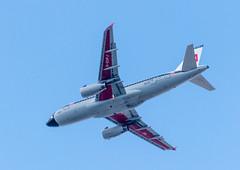 BEA Flashback (sbisson) Tags: retrojet britishairways bea ba britisheuropeanairways airbus a319 london heathrow livery ba100 sky summer putney