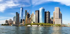 New York Skyline from Hudson River, Battery Park. (rafyrodriguezphotography) Tags: unreal nyc newyorkskyline skyline worldtradecenter oneworldtradecenter batterypark newyork