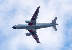 Under the Retrojet (sbisson) Tags: retrojet britishairways bea ba britisheuropeanairways airbus a319 london heathrow livery ba100 sky summer putney