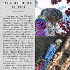 Abducted by Aliens?!! (Andreadm66) Tags: strokeawareness stroke science jodrellbank teddybear littleted knitted