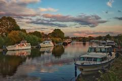 River Ouse (York marina) (Darren Speak) Tags: reflections summer sunshine water evening boats york yorkmarina