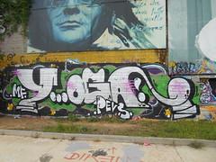 433 (en-ri) Tags: yoga pevs crew mf bianco nero verde torino wall muro graffiti writing parco dora