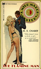 Paperback Library 63-353 - M.E. Chaber - The Flaming Man (swallace99) Tags: paperbacklibrary vintage 70s spy thriller paperback robertmcginnis milomarch