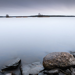 Blank (Rico the noob) Tags: dof rock d850 landscape 20mm water outdoor lake stones clouds longexposure tree travel published rocks sky trees 2018 20mmf18 finland nature
