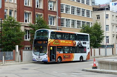UK - Manchester bus (onewayticket) Tags: bus transport urban gonorthwest volvo b9tl volvob9tl wright wrighteclipsegemini alloverlivery mx58dyf