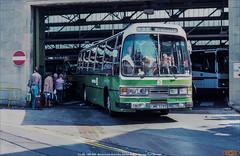 Crosville ELL329,  JMB 329T, Marlborough Street Bus Station, Bristol, April 24th 1984 (Bristol RE) Tags: crosville ell329 cll329 jmb329t leyland leopard duple dominantexpress2 marlboroughstreetbusstation bristol