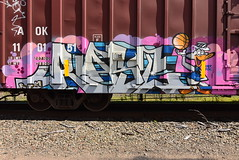 RAST (TheGraffitiHunters) Tags: graffiti graff spray paint art benching benched freight train tracks boxcar rast