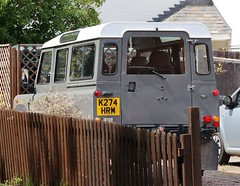 K274 HRM (Nivek.Old.Gold) Tags: 1993 land rover defender 110 tdi station wagon 2495cc airportfleetservices stansted