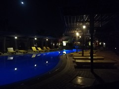 Nighty pool (Abdullah Taher) Tags: winter water waterfall egypt egyptian sea rock travel building image indoor interior life sinai night opening photo photograph phone shot lake light lines pool blue bright beach mobile