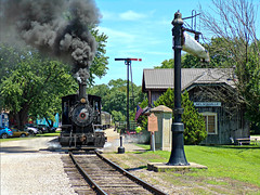 Steamy Departure From Nelsonville (dtrohdenburg) Tags: hockingvalley scenicrailway steamlocomotive 060 nelsonville ohio depot
