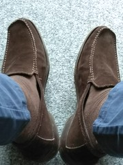 Suede day 7 (Adam11051983) Tags: footwear men mens shoe shoes brown loafer loafers feet foot suede