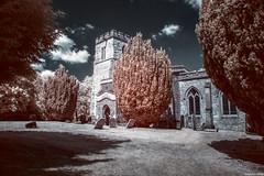St. Mary's Church, Pitstone (revisited) (Biff_Brown) Tags: church pitstone infrared neewerir760 ir760 samyang12mmf2 affinityphoto panasonicg6 samyang