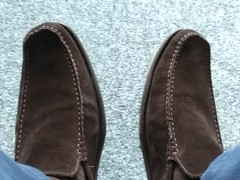 Suede day 5 (Adam11051983) Tags: footwear men mens shoe shoes brown loafer loafers feet foot suede