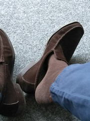 Suede day 4 (Adam11051983) Tags: footwear men mens shoe shoes brown loafer loafers feet foot suede