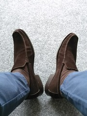 Suede day 3 (Adam11051983) Tags: footwear men mens shoe shoes brown loafer loafers feet foot suede