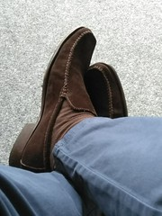 Suede day 2 (Adam11051983) Tags: footwear men mens shoe shoes brown loafer loafers feet foot suede