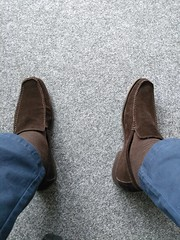 Suede day 1 (Adam11051983) Tags: footwear men mens shoe shoes brown loafer loafers feet foot suede