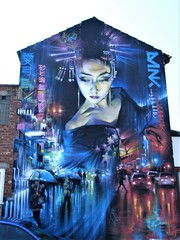 BLACKPOOL STREET ART = DANK TOKYO GHOSTS !!! (rossendale2016) Tags: street art lancashire blackpool fylde ghosts photo cosmopolitan picture east far photogenic immaculate type saigon lighting rain lights neon fluorescent raining original orient smart design neat rare clever water matt painting paint painter gloss genius waterproof varnish tokyo dank umbrella traffic cars night seaside park car carpark town centre end gable beautiful lady japanese painted chinese's real artistic icon oriental lifelike lofe color colour coast fantastic colorful colourful iconic gorgeous unbelievable best top classic classical