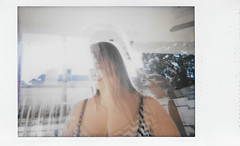 Wendy Drama (H o l l y.) Tags: portrait double exposure lomography fuji instax mini instant film analog outdoors summer pool girl weird blur retro indie vintage