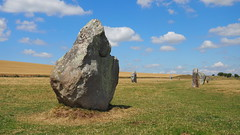 Avebury Standing Stone. (Flyingpast) Tags: avebury wiltshire england uk ancient stonecircle worldheritagesite english summer blue sky monument neolithic bronzeage alexanderkeiller archaeologist historic site countryside