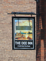 Welsh Pub Sign - The Dee Inn, Flint (big_jeff_leo) Tags: sign pubsign publichouse painted painting wales welsh